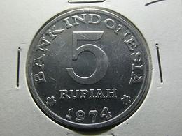 Indonesia 5 Rupiah 1974 - Indonesia