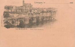 """/ CPA FRANCE 87 """"Limoges, Pont  Saint Etienne"""" - Limoges"""