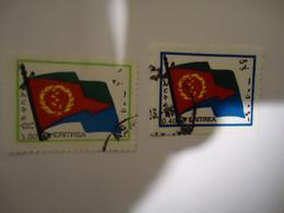 ERITREA  USED  STAMPS   FLAGS FLAG - Eritrea