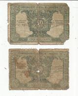 JC ,G, Billet , Gouvernement Général D'INDOCHINE,50 , Cinquante Cents , LOT DE 2 BILLETS - Indochina