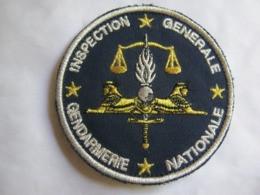 ECUSSON GENDARMERIE NATIONALE INSPECTION GENERALE (VARIANTE LETTRES EN BRILLANT) SUR VELCROS ETAT EXCELLENT - Policia