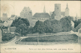 AK Allenstein / Olsztyn Partie Mit Dem Alten Schloss, Kath. Und Evang. Kirche (6,1) - Ostpreussen
