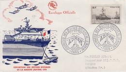 Enveloppe  FDC    FRANCE   Journées  Des  Oeuvres  Sociales  De  La  Marine   PARIS    1954 - 1950-1959