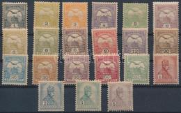 ** 1900 Turul Postatiszta Sor, 21 érték (440.000) / Mi 54-70 + 4 Later Issued Values, MNH (5K Alul Rövid Fogak / Short P - Zonder Classificatie