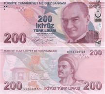 TURKEY        200 Türk Lirası        P-227[d]       2009 (2019)        UNC  [sign. Uysal - Şener] - Turkey
