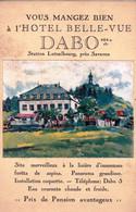 57 - Moselle - DABO - Hotel Belle Vue - Station Lutzelbourg Pres Saverne -  Publicité - Dabo