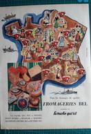 Ancienne Pub Fromage La Vache Qui Rit,fromagerie Bel,illustrée Par Hervé Baille - Advertising