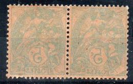 TYPE BLANC - 111i  Paire Impression Recto/verso - Neufs ** - MNH - 1900-29 Blanc