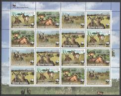 2008 GUINEA-BISSAU WWF WATERBUCKS WILD ANIMALS FAUNA #3919-22 FULL SH MNH - Nuevos