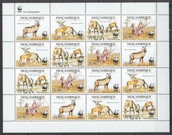 2010 MOZAMBIQUE WWF ANTELOPES WILD ANIMALS FAUNA #3658-3661 FULL SH MNH - Nuevos