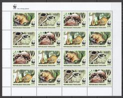 2010 TOGO WWF PANGOLINS WILD ANIMALS FAUNA #3454-3457 FULL SH MNH - Nuevos