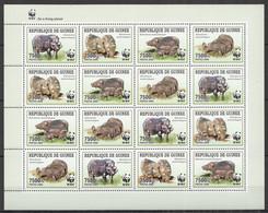 2009 GUINEA WWF WILD BOARS ANIMALS FAUNA #4286-4289 FULL SH MNH - Nuevos
