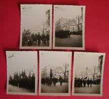 34 Sète Cette 11 Mars 1937 Obsèques Lucien Salette 5 Photos Député SFIO Du 34  TB Animée Sans éditeur Dos Scanné - Sete (Cette)