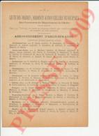 Infos 1909 Aubeterre Aube Champigny Charmont Feuges Herbisse Mailly Nozay Ormes Pouan Semoine Voué Aulnay Villette250/12 - Unclassified