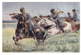 EN GUERRE - ARMEE RUSSE - COSAQUES DU DON A LA CHARGE  (carte Animée) - Oorlog 1914-18