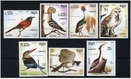 """Kampuchea ** N° 737 à 743 -""""Capex 87"""" Expo Philat. Oiseaux Divers - Kampuchea"""