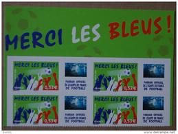 P1-M6 : Sport, Football  - Merci Les Bleus (autocollants / Autoadhésifs) - Personnalisés