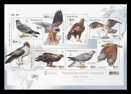 Ukraine 2020 Mih. 1902/09 (Bl.170) Fauna. Birds Of Prey MNH ** - Ukraine