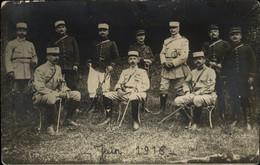 PHOTO D'un Groupe D' Officiers  Juin 1918 - Oorlog, Militair