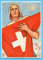 Bundesfeierkarte Nr. 72 - Eidgenosse Gestempelt Brunnen 1.VIII.41 Und Bundesbrief 1291 - Brunnen 1. August 1941 - Covers & Documents