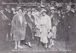 Tennis / Document Imprimé 1926 / MARY PICFORD (actrice) SUZANNE LENGLEN (tennis) Au Championnat International De France - Sports