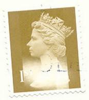 GB 1997 Machin 1St. Gold VFU On Piece, MAJOR ERROR & VARIETY: MISSING GOLD COLOR - Abarten & Kuriositäten