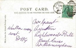 GB 1904 King Edward 1/2d Bluegreen VF Postcard MAJOR VARIETY: FRAMEBREAK (S.G. M1m) - Abarten & Kuriositäten