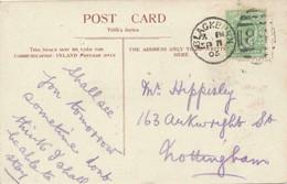 GB 1905 Edward 1/2d Yellow Green VF Postcard Duplex BLACKBURN / 86 MAJOR VARIETY: Frame Break At Top (S.G. M2j), Rare - Abarten & Kuriositäten
