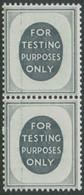 GB FOR TESTING PURPOSES ONLY Vertical Strip Of Two U/M TESTING Stamps VARIETIES - Abarten & Kuriositäten