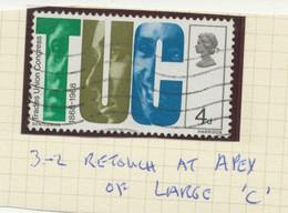 "GB 1968, 4 D ""T.U.C."" And Trade Unionists FU, Rare VARIETY: RETOUCH ON LARGE ""C"" - Abarten & Kuriositäten"
