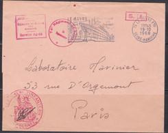 Lettre Avec Flamme,76 Le Havre 1968, Paquebot, Cachets Militaires (ref L A27) - Annullamenti Meccanici (pubblicitari)