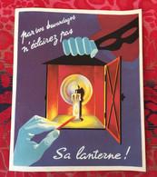 Propagande Guerre 1939/45 Affiche WW2 Militaria Document  Résistance -par Vos Bavardages N'éclairez Pas Sa Lanterne! - 1939-45