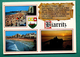64 Biarritz ( Multivues, Blason, Baleine, Coquille Saint Jacques, Coquillage ) 011 - Biarritz