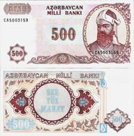 Azerbaijan ND (1993) - 500 Manat - Pick 19b UNC - Azerbaïjan