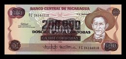 Nicaragua 200000 Córdobas Augusto C. Sandino 1985 (1990) Pick 162 SC UNC - Nicaragua