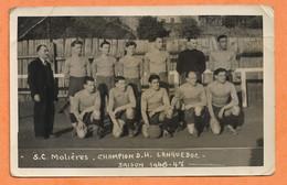 Photo Format C.P. - S.C. Molières -Champion D.H. Languedoc Saison 1946-47- FOOTBALL - Molières Sur Cèze - SPORT - PHOTOS - Otros Municipios