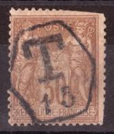 Sage N° 80 - Oblitération Cachet Taxe Anglais - 1876-1898 Sage (Tipo II)