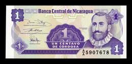Nicaragua 1 Centavo De Córdoba 1991 Pick 167 SC UNC - Nicaragua
