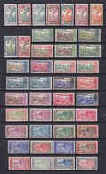 FRENCH GUIANA 1929, Sc# 109-151, CV $52, MH - Unused Stamps