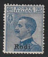 EGEE : RHODES - N°7 * (1912) - Aegean (Rodi)