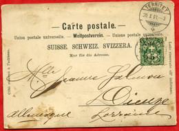 * Carte à Identifier : Carte Se Dépliant ( 41cm X 10cm ) - GRAND HOTEL TERRITET - 1901 ( Voir Cachet ) - VD Waadt