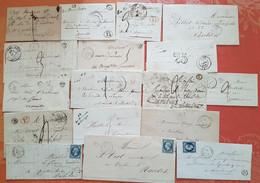 France - Lot De 17 Lettres De Loire Inférieure  Avec Cachets De Facteurs IDENTIFIES   - Depart 1 Euro - - 1801-1848: Precursors XIX