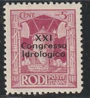 EGEE : RHODES - N°23A * (1930) 21e Congrès Hydrologique - Aegean (Rodi)