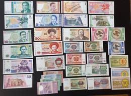 34 X World Banknotes - Zonder Classificatie