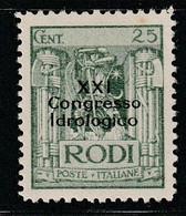 EGEE : RHODES - N°23D * (1930) 21e Congrès Hydrologique - Aegean (Rodi)