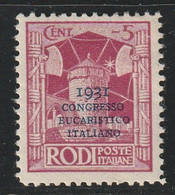 EGEE : RHODES - N°28A * (1931) Congrès Eucharistique - Aegean (Rodi)