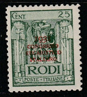 EGEE : RHODES - N°28D * (1931) Congrès Eucharistique - Aegean (Rodi)