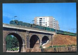 """Photo-carte """"Locomotives T110 Et T121 RATP Tractant Une Rame De Métro Sprague De Fontenay-sous-Bois à Boissy-St-Leger"""" - Subway"""
