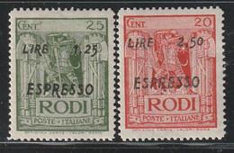 EGEE : RHODES - Timbres Exprès N°5/6 * (1933-44) - Aegean (Rodi)