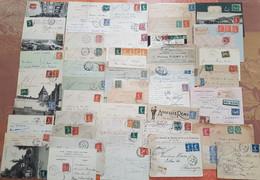 France - Lot De 50 Lettres Et Cartes Marcophiles - Depart 1 Euro - Toutes Avec Semeuses - 1877-1920: Semi Modern Period